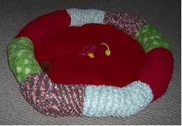Recycled socks pet bed