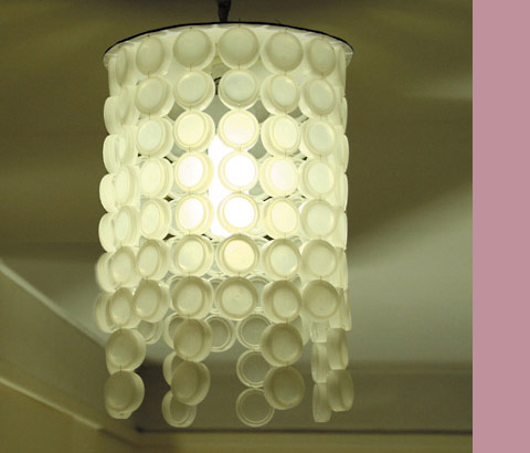 Eco-DIY: make a bottle-cap lampshade - EcoStreet