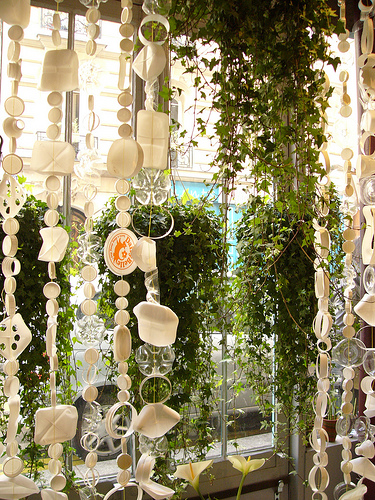 recycled plastic beaded curtain