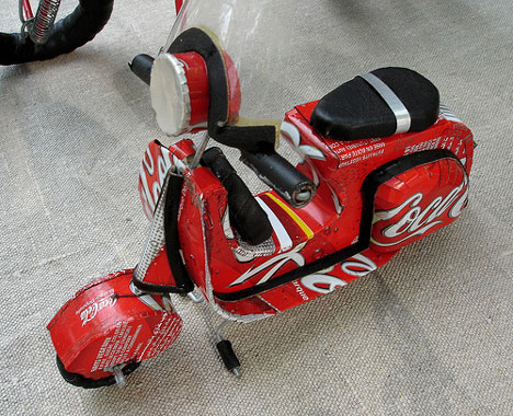 recycled coke can scooter