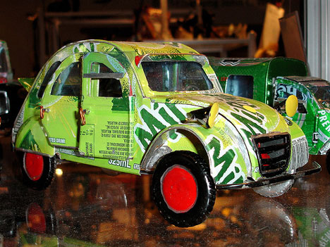 recycled soda can 2cv
