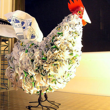recycled plastic bag chicken - an African icon