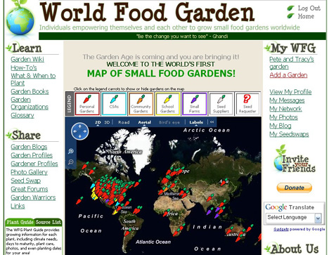 world food garden map Is your garden on the World Food Garden Map?
