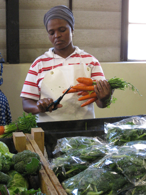 Exquisite care is taken to present the vegetables beautifully.